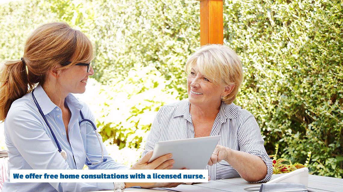 Free home consultations with a registered nurse